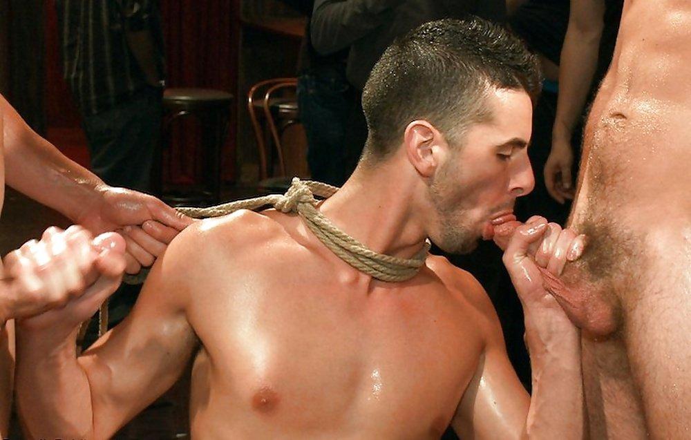 Nasty kinky gay gets bondage and gets gay photo